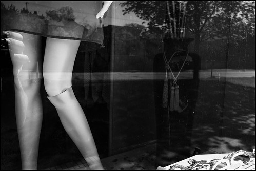 Window dispaly with mannequin