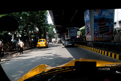 _9266147 (frederik_rowing) Tags: world road street old trip travel portrait people india heritage cars colors car yellow wow landscape four driving colours view traffic cab taxi great colonial goa documentary vivid olympus unesco riding busy monsoon lane micro driver rushhour morris ambassador jam calcutta congestion hampi omd thirds ep1 ep2 ep3 kolkatta mft hindustan 1442 ep5 incredibleindia mirrorless