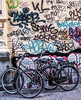 (Drew Cahill) Tags: street copenhagen graffiti bikes dutchbikes