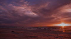 sunset at Baltic Sea (Darek Drapala (OVER 3 000 000 VIEWS THANK YOU)) Tags: beach clouds clusters color europe g2 landscape light lumix nature panasonic panasonicg2 poland polska sea baltic sunset sun