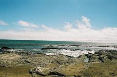 pacific ocean: northern ca coast (E.M. Ramirez) Tags: ocean seascape film beach fog 35mm landscape minolta lofi overcast iso expired portra maxxum c41 nc160