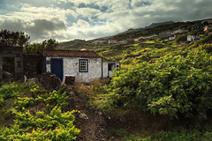 Home Sweet Home (Baggers~) Tags: light summer sky black portugal rock stone landscape volcano evening moody cottage dramatic pico walls ramshackle azores aores calhetadenesquim