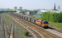 Eastbound Gypsum At Pepper Road. (neilh156) Tags: leeds railway tug ews midlandroad class60 hunslet 60043 gypsumtrain pepperroad