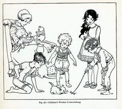 childrens woolen underclothing 1925 (janwillemsen) Tags: children kittens 1925 bookillustration