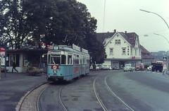 Once upon a time - Germany - Wiesloch (Heidelberg) (railasia) Tags: history germany heidelberg sixties terminus hsb wiesloch düwag metergauge traminfra routenº4