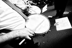 The Drums Line (Andrea Scire') Tags: street music white dark banda italia andrea streetphotography musica instrument sheet festa bianconero sicilia salvatore biancoenero musicista popolare processione 2013 scirè santissimo andreascire andreascirè tamburicorpobandistico ©phandreascire