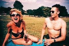 Brockwell Park (cranjam) Tags: park uk red party summer parco london film sunglasses laughing scott lomo lca xpro lomography picnic fuji drink slide elena fujifilm yelling londra brixton roaring sunnies brockwellpark pimms hernehill velvia100f pimmsandlemonade