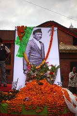 IMG_6940 (Cyril_Groue) Tags: nepal man prime august kathmandu tribute former 29 hommage minister singh shrestha marich katmandou 2013