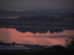 Sunset on the Mersey (buzzybellew) Tags: sunset lighthouse reflection liverpool hale mersey