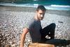 Best Coast (Jorge Jam) Tags: light boy sea summer costa sun mer film luz sol beach nature analog 35mm vintage coast mar asturias playa verano werlisa