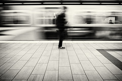 theme for great cities (bluechameleon) Tags: city urban man blur lines vancouver train underground subway movement pattern blurred yaletown skytrain canadaline bluechameleon sharonwish artlilbre artlibres bluechameleonphotography