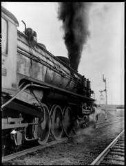 Locomotive engine (State Records SA) Tags: blackandwhite photography australia historical southaustralia frankhurley srsa staterecords staterecordsofsouthaustralia staterecordsofsa