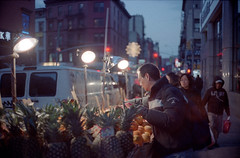 Groceries (dtanist) Tags: new york city nyc newyorkcity newyork film analog shopping stand chinatown kodak manhattan stall olympus sp vendor produce grocery 35 portra groceries zuiko seller grocer shoppers shopper gzuiko 400nc 35sp 42mm