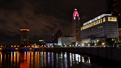 Downtown Color (tim.perdue) Tags: columbus ohio urban reflection water colors skyline night river lights long exposure downtown illuminated multicolored scioto mile