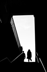 Up the stairs (Olderhvit) Tags: street shadow people blackandwhite bw london monochrome silhouette photography photo foto candid streetphotography streetphoto fotografi blackandwhitephotography streetshot londonstreet streetpic img3831 londonphotography gatufoto gatufotografi framingthestreet olderhvit