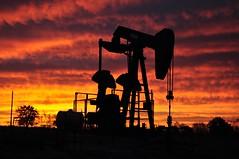 Texas sunrise (djee94) Tags: ranch sunrise texas pump oil