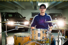 (mgratzer) Tags: music cars rock backlight drums video garage band drummer behindthescenes zenrodeo