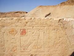 Hieroglyphics at the Temple of Hatshepsut. (grnstreak) Tags: egypt valleyofthekings hieroglyphics