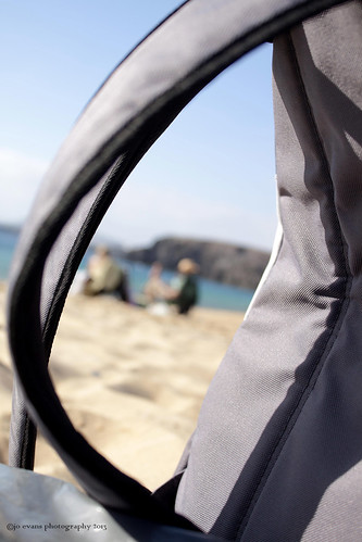Beach bag bokeh