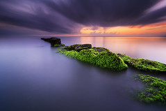 Green Wave Breakers [Explored] (eggysayoga) Tags: longexposure bali seascape seaweed sunrise indonesia landscape moss nikon day ss hard tokina filter le 09 lee nd 116 graduated sanur gnd wavebreakers 1116mm matahariterbit d7000 pwpartlycloudy