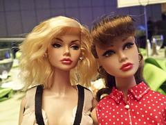 Sharon's mini-me and my Coney Island (PoetC7) Tags: fashion dolls convention royalty 2013 fashiondolls poppyparker