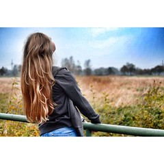 (garbe.theresa) Tags: sunset me girl hair long feld blond brcke uploaded:by=flickrmobile flickriosapp:filter=nofilter