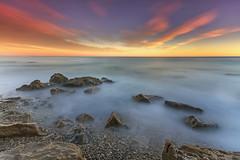 !!Feliz Ao EXPLORER 31-Diciembre-2013 (natalia martinez) Tags: atardecer luces mar rocas calidez sedas nataliamartinez