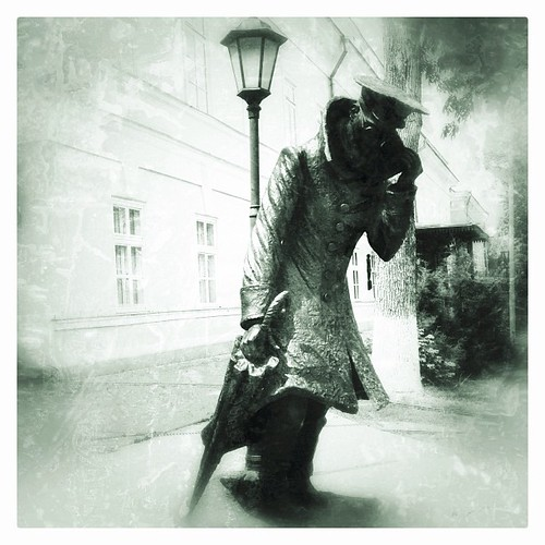 #taganrog #russia #Chekhov #the man in a case #monument #statue #another one #snapseed #camera+ #iphone #4s #таганрог #Чехов #человек в футляре #россия #другой #памятник #статуя