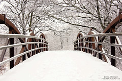 Snowy Bridge (Jenny Onsager) Tags: bridge winter snow ice canon libertyville redbridge independencegrove snowybridge mygearandme mygearandmepremium mygearandmebronze mygearandmesilver mygearandmegold mygearandmeplatinum blinkagain jennyonsager