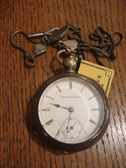 """19TH CENTURY COIN SILVER ELGIN POCKET WATCH. • <a style=""""font-size:0.8em;"""" href=""""http://www.flickr.com/photos/51721355@N02/11971198346/"""" target=""""_blank"""">View on Flickr</a>"""