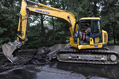 blacktop removal (Gregs Landscaping) Tags: paving asphalt excavating