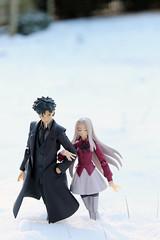 stroll (Yami Usagi) Tags: winter snow toy von fate figure figurine zero emiya einzbern figma kiritsugu irisviel