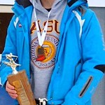 U16 Big White Racer Ryan Moffat, men's overall winner of the 78th annual Teck Enquist Cup slalom at Apex Resort PHOTO CREDIT: Derek Trussler