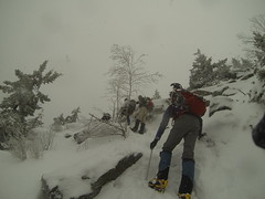 Post Snow Storm 1, Beginning Snow Storm 2 Mt. Monadnock Summit