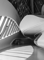 Zaha Hadid architects. Zaragoza bridge pavilion #14 (Ximo Michavila) Tags: bridge shadow sunlight abstract geometric lines architecture grey blackwhite spain graphic curves perspective zaragoza aragon pavilion architects zahahadid archidose archdaily archiref ximomichavila