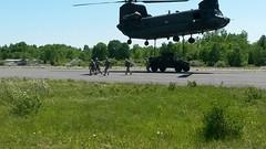 20140607-Z-Clark-012 (New York National Guard) Tags: 3rdbattalion det1 2ndbattalion senecaarmydepot nysoldiersofdeltacompany 108thinfantryfromithaca hadtheuniqueopportunitytotrainwithtwoch47chinookhelicoptersandtheircrewsfrombravocompany 126thaviationoutofrochesterthetrainingtookplaceatsenecaarmydepotlocatedintheheartofthefingerlakesbetweensenecaandcayugalakesnewlytrainedpathfinderandairassaultsoldierstrainedthecompanyonhowtoslingloadthecodup theflightcrewsverifiedtheloadsandgaverehearsalsfortheloadingandunloadingtheaircrafteachofthetrainedhookupcrewsrotatedthroughhookingtheslingloadsupandthechinooksflewashortpatternwiththe5 000lbsand12 000lbshumveeseachofthefourassaultplatoonsincodwereflownaroundcanandaiguaandkeukalakeswhileaboardthehelicoptercaptclarkwasabletopromotespcjoshuameriwethertosergeant