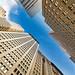Wall Street, Looking Up, NYC, USA