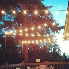 DIY Galvanized Pipe Party Lights (Heath & the B.L.T. boys) Tags: ikea home diy pipes rental deck stringlights instagram