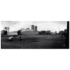 Omaha (orangecrushsoda) Tags: blackandwhite panorama skyline buildings square downtown squareformat omaha grayscale downtownomaha iphoneography instagramapp