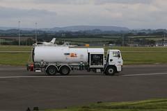 Aircraft refueller. (aitch tee) Tags: cardiffairport vehicle fueltruck refueller airportequipment jeta1 cwlegff maesawyrcaerdydd walesuk