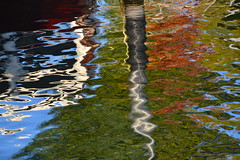 Reflections on lake Constance (Jeanne Menj) Tags: reflets arbres bateaux surface eau lacdeconstance allemagne reflections lakeconstance water abstract