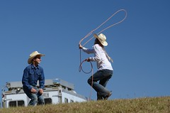 Some Kids Fly Kites (Get The Flick) Tags: rodeo lariat roping lasso bluesky kids play