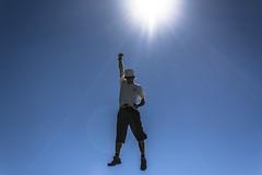 Super Me (IceKimo) Tags: superman fly jump sky blue sun ciel bleu soleil vol voler fun saut