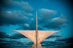 Calatrava (Thomas Hawk) Tags: america calatrava milwaukee milwaukeeartmuseum santiagocalatrava usa unitedstatesofamerica wisconsin architecture clouds fav10 fav25 fav50 fav100