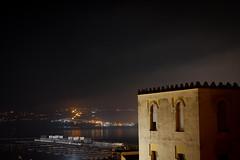 Noche en Tnger (gabrielromeroplana) Tags: tanger marruecos puerto noche contaminacion luminica niebla nubes canon eos 1100d