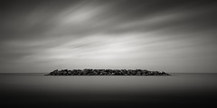 Singleton (Jeff Gaydash) Tags: nd110 longexposure blackandwhite seascapes lakescapes water greatlakes panoramic euclid beach erie ohio