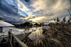 Frome here to Eternity (Jon_Wales) Tags: river frome wareham dorset pooleharbour rngland water sky skies winter england english british britain boat yacht monarch paddlesteamer