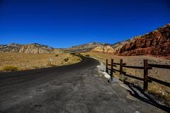 Redrock Canyon, Las Vegas NV (vainapur) Tags: red redrock canyon lasvegas neveda pattern fence fences brokenfence road roadtrip redrockcanyon tar desert mojave mojavedesert blm