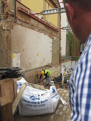 Managed a sneaky photo of the now demolished house. (maggie jones.) Tags: london manyricedavies christinekeeler infamous