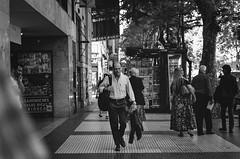 BUE. (~gciolini) Tags: buenos aires argentina street photograph photography people rua bw grain preto e branco monocromtico explore
